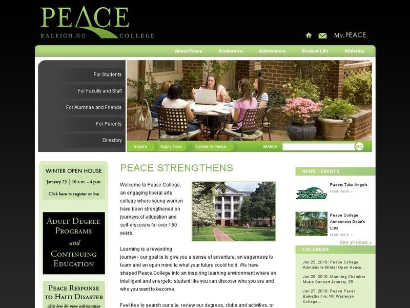 Peace College College, Faculty and staff, Liberal arts