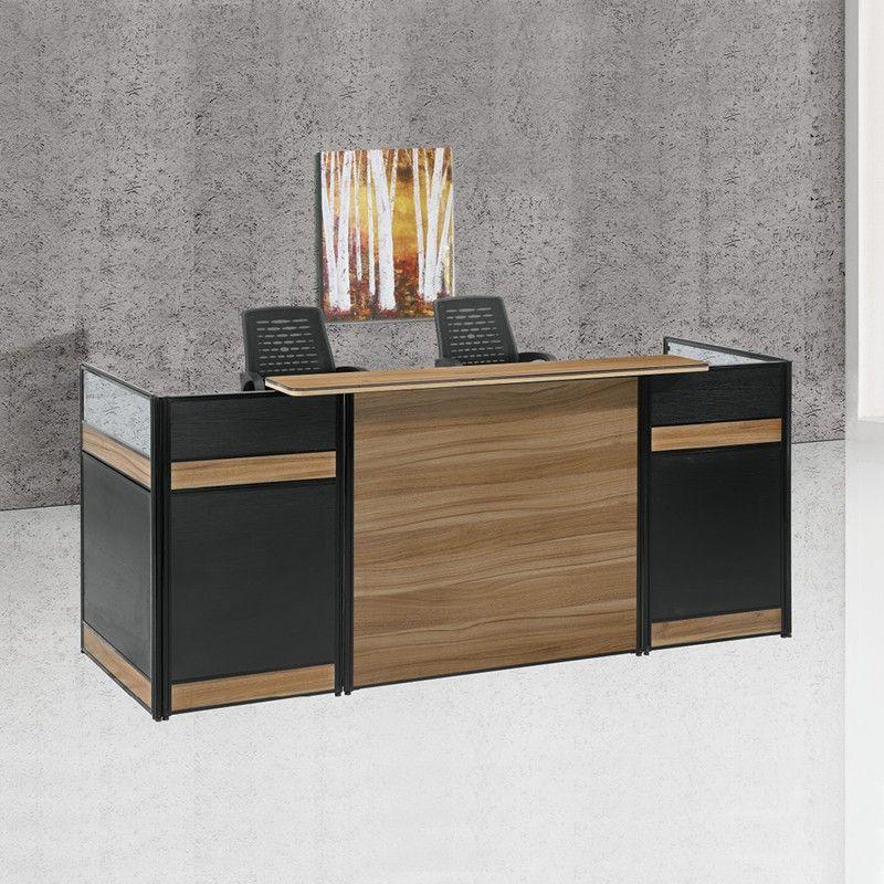 High end reception desk office furniture cheap wooden ...