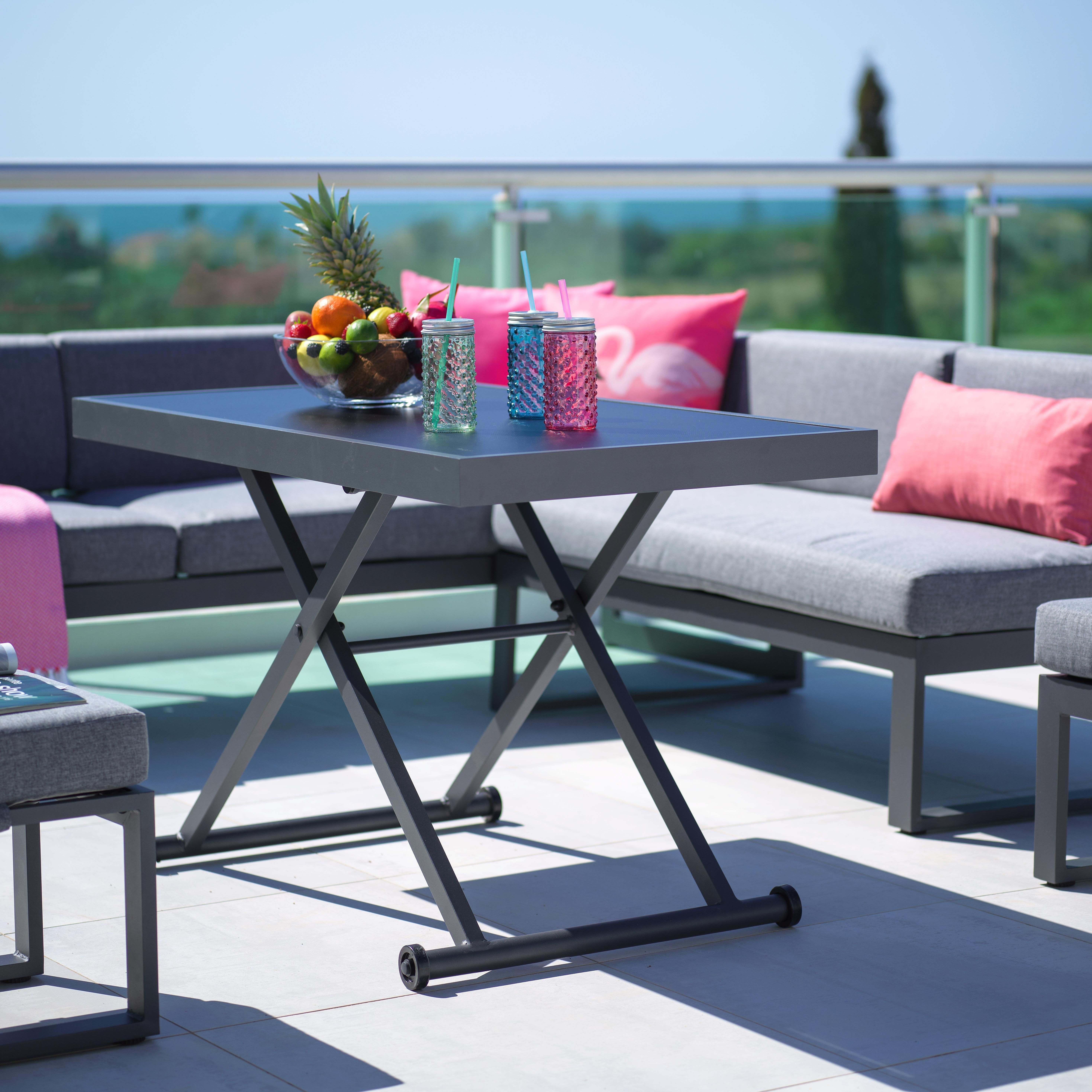 Gartentisch In Anthrazit Praktisch Hohenverstellbar Gartentisch Tisch Selber Bauen Lounge Tisch
