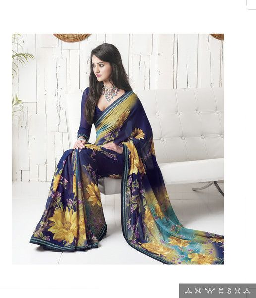 We are offering printed multicolor designer saree exclusively for females of young age, who love to keep looking young. We offer this saree with an unstiched blouse.
