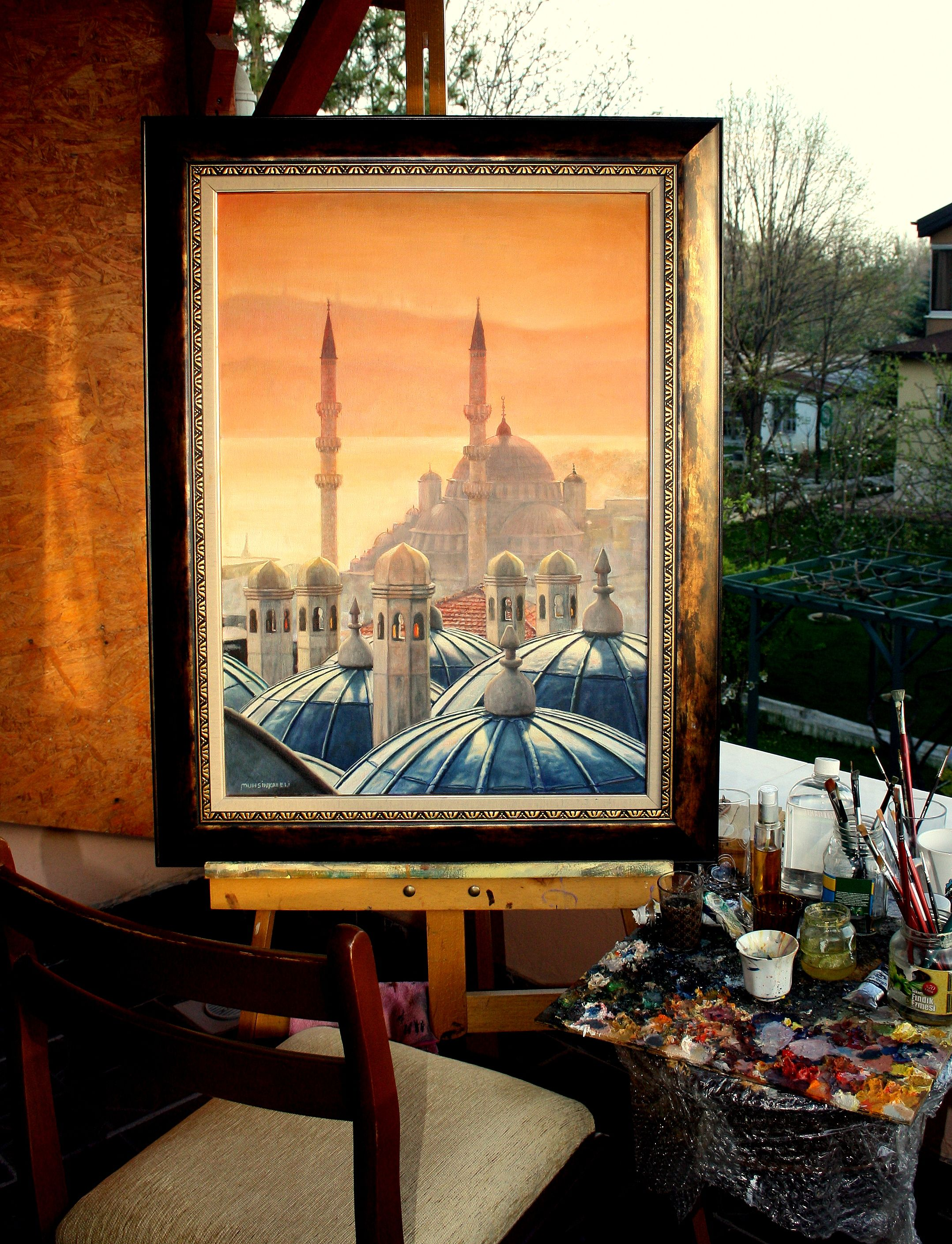 istanbul,70x100,oil painting