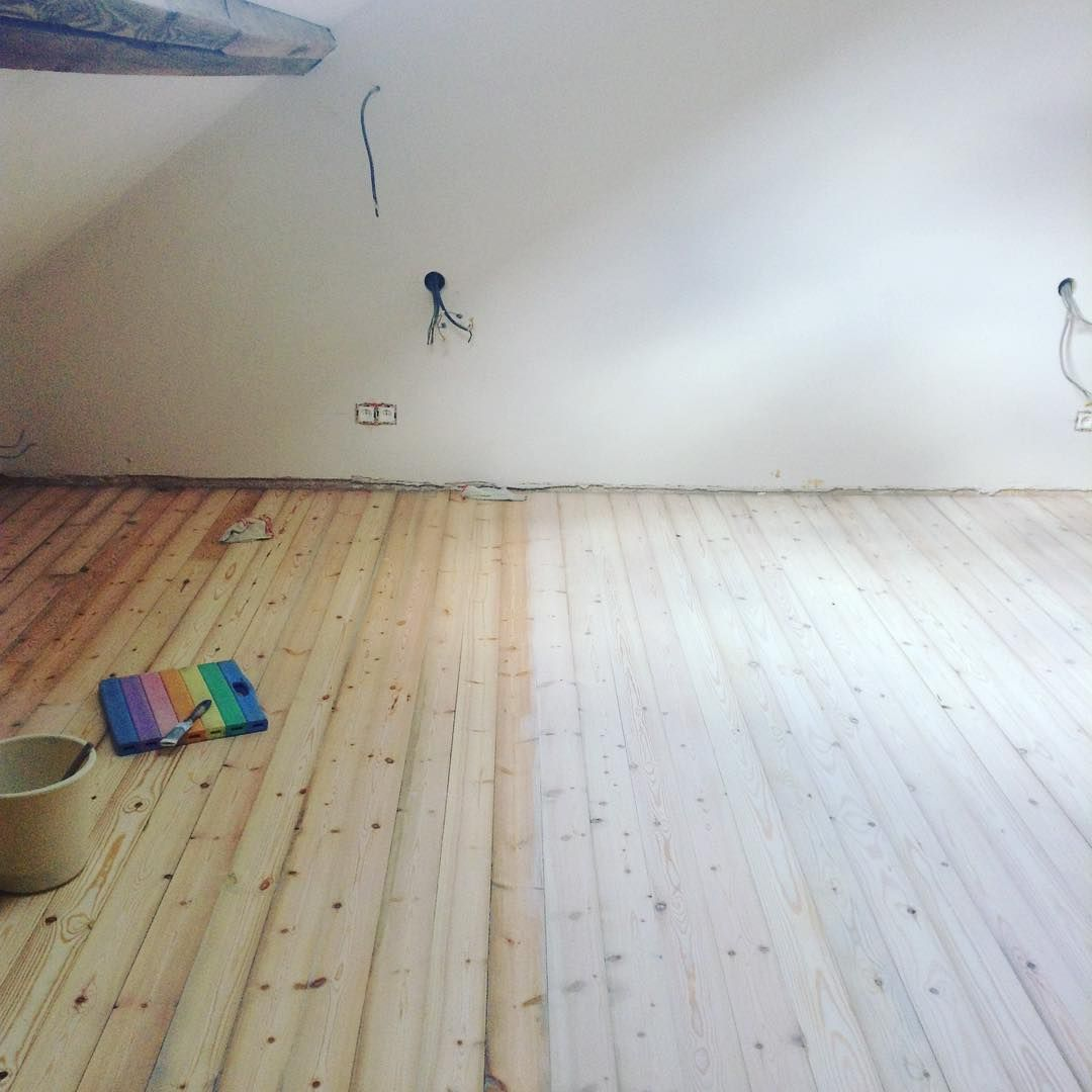 Wood Floor With Lye White On Right