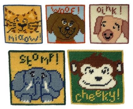 Two Animal Beginners Tapestry Kits