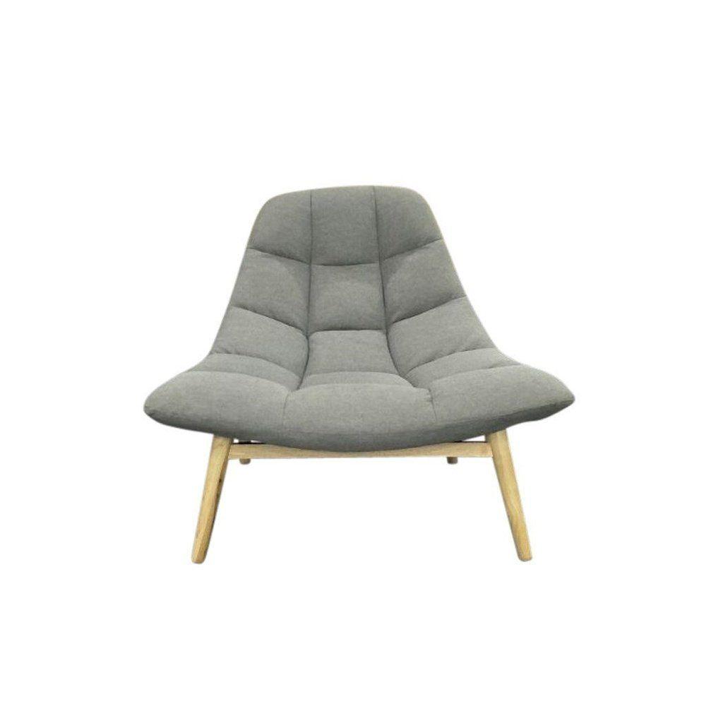 Maja Lounge Chair  Light Grey is part of Scandinavian Home Accessories Mid Century -  Maja Lounge ChairModern, MidCentury & Scandinavian ColorLightGrey MaterialFabric 100% Polyester DimensionsW103cm x D 87cm x H 84cm
