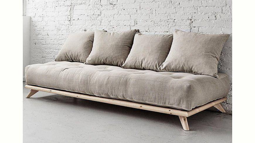 Karup Schlafsofa inkl 4 Kissen Jetzt bestellen unter   - wohnzimmer sofa braun