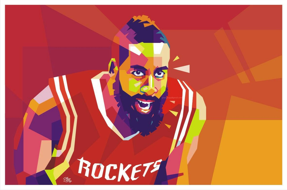 eb4f8b587b9 James Harden in WPAP Pop Art Portraits