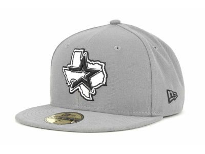 Houston Astros New Era MLB Gray BW 59FIFTY Cap  b7d2ecea86c