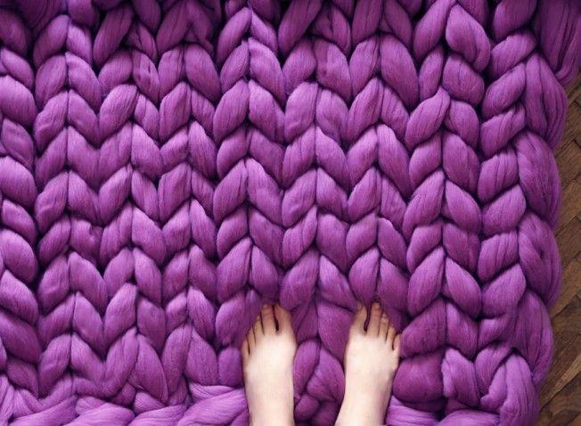 QUERO  Nada como o tricô gigante para nos aquecer no frio  eaed2066616
