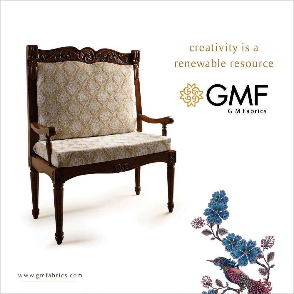 Be as #Creative as you like, deck up your #Home in a way that reflects your #Creativity. #Furnishings #HomeDecor #GMF #GMFabrics #HomeFabric #Decor #UpholsteryFabric