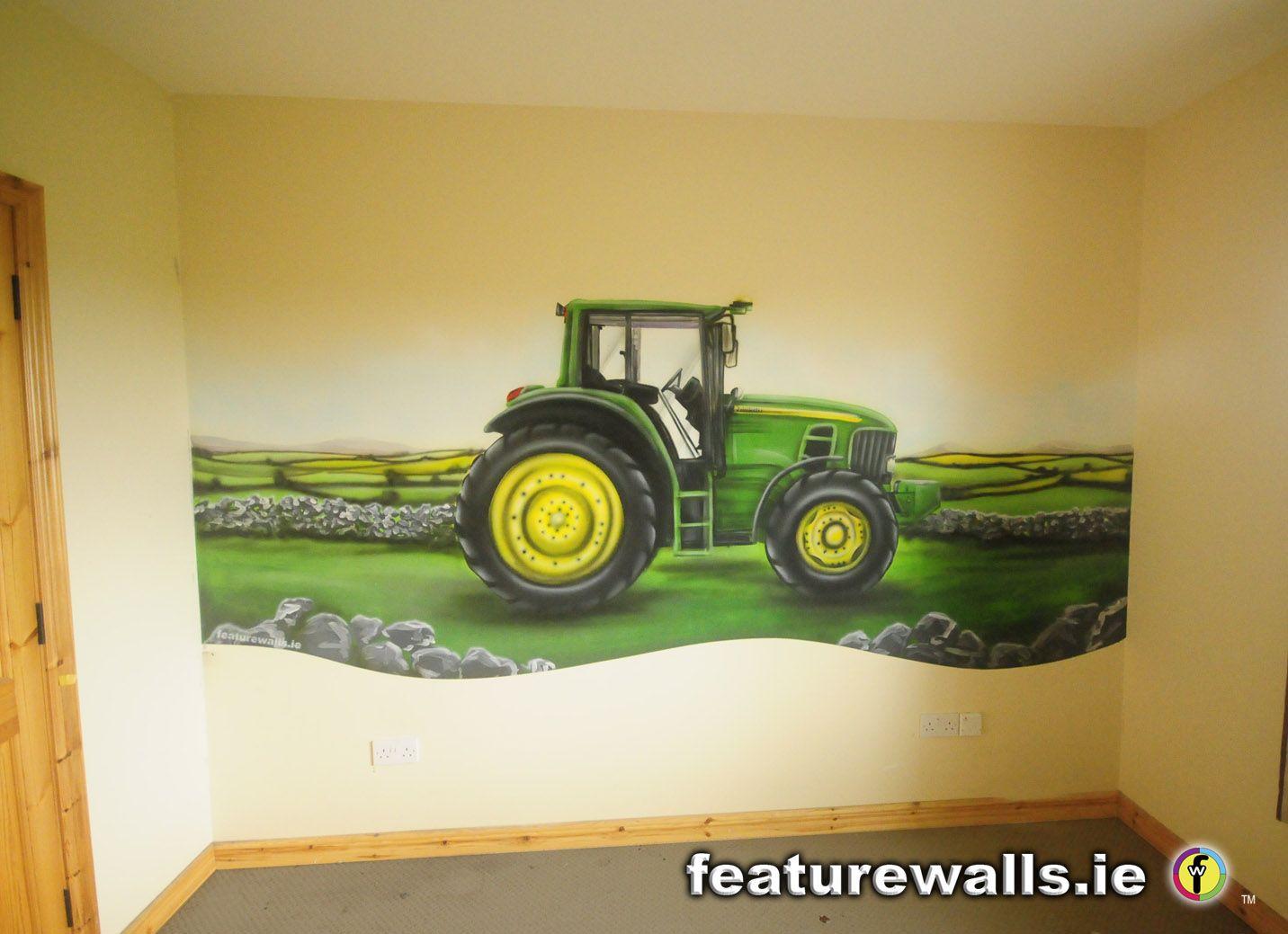 Tractor Mural John Deere Tractor Mural Airbrushed By John