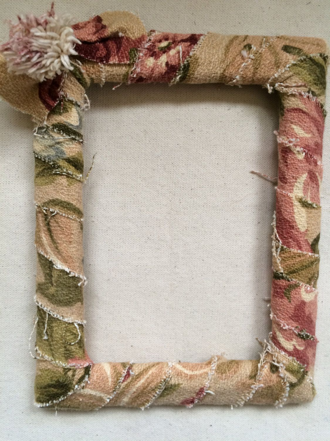 Fabric covered frame, Textile Frame, Picture frame, Vintage fabric ...
