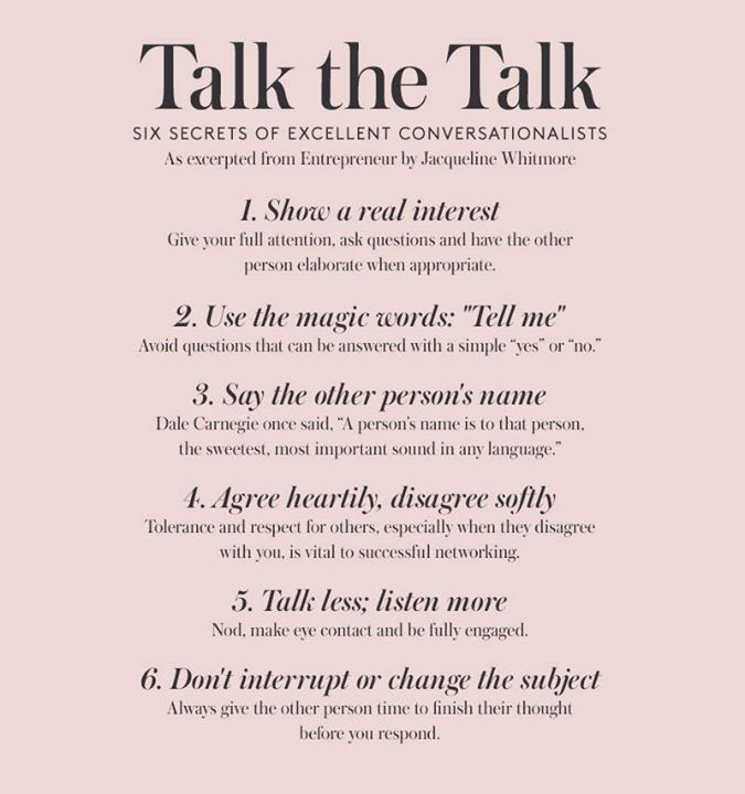 [Image]Great conversations have the power to change lives.