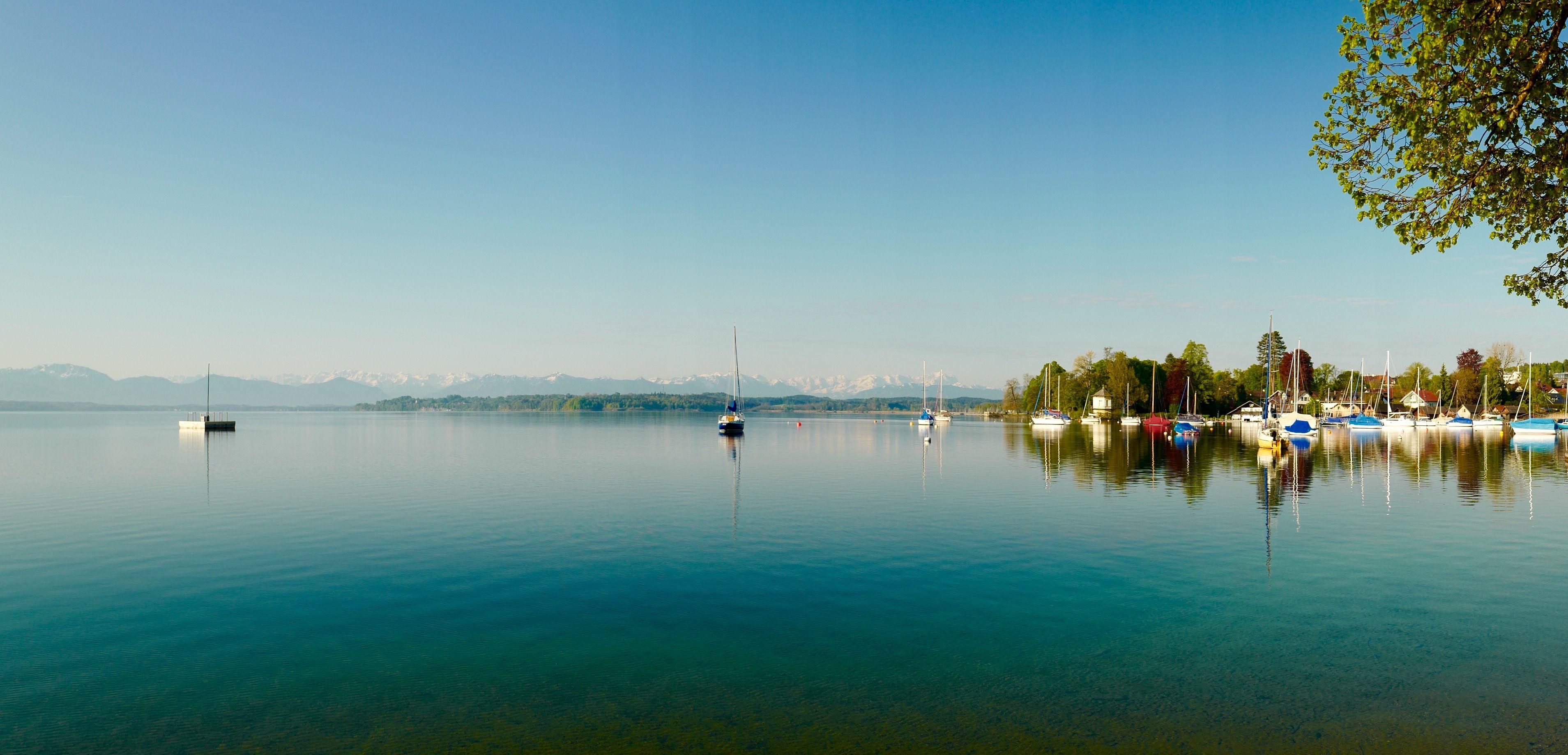 Morning light at Lake Starnberg, Leica Q panorama function #Lake Starnberg#Bernried#Panorama#Leica Q