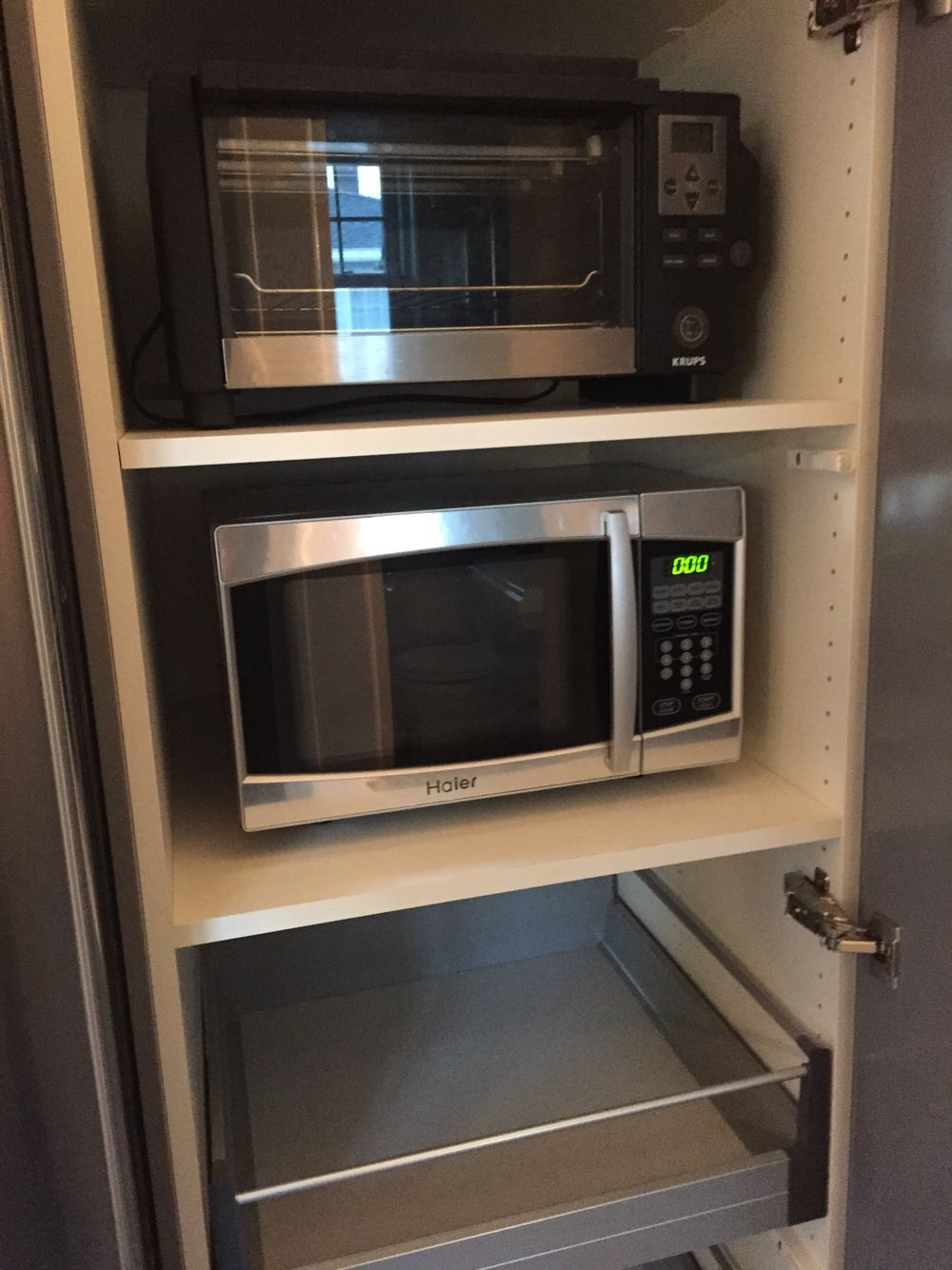 ikea pantry to hold microwave toaster