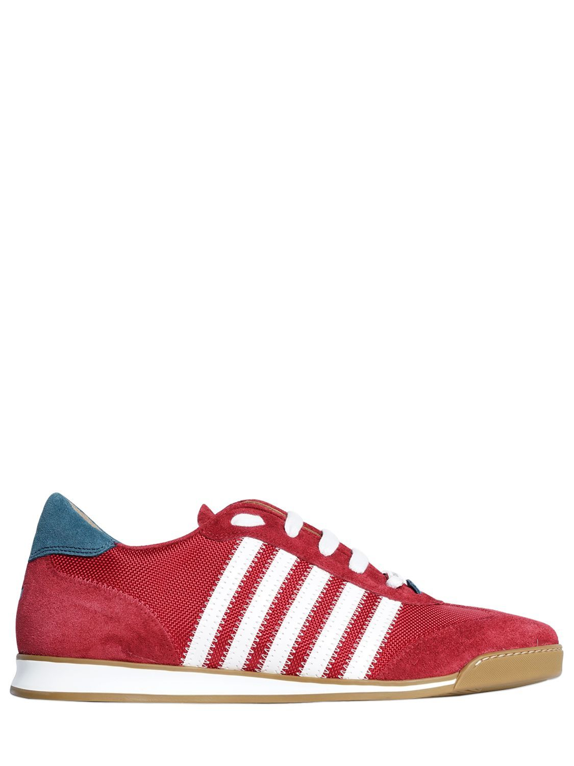 Dsquared2NEW RUNNER LEATHER & SUEDE SNEAKERS gMjQNa7XF