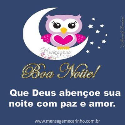 Mensagem de Boa Noite com carinho e amor