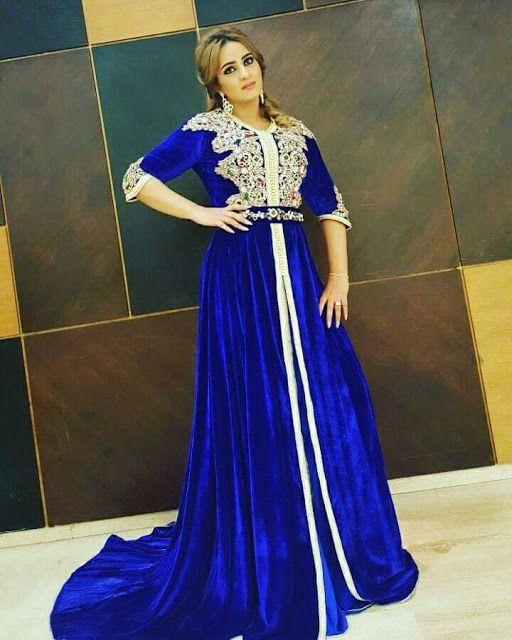 Caftan Bleu 2017 - Vente Caftan Marocain Pas Cher  4cbddf7aa54