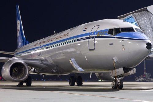 KLM 737 retrojet