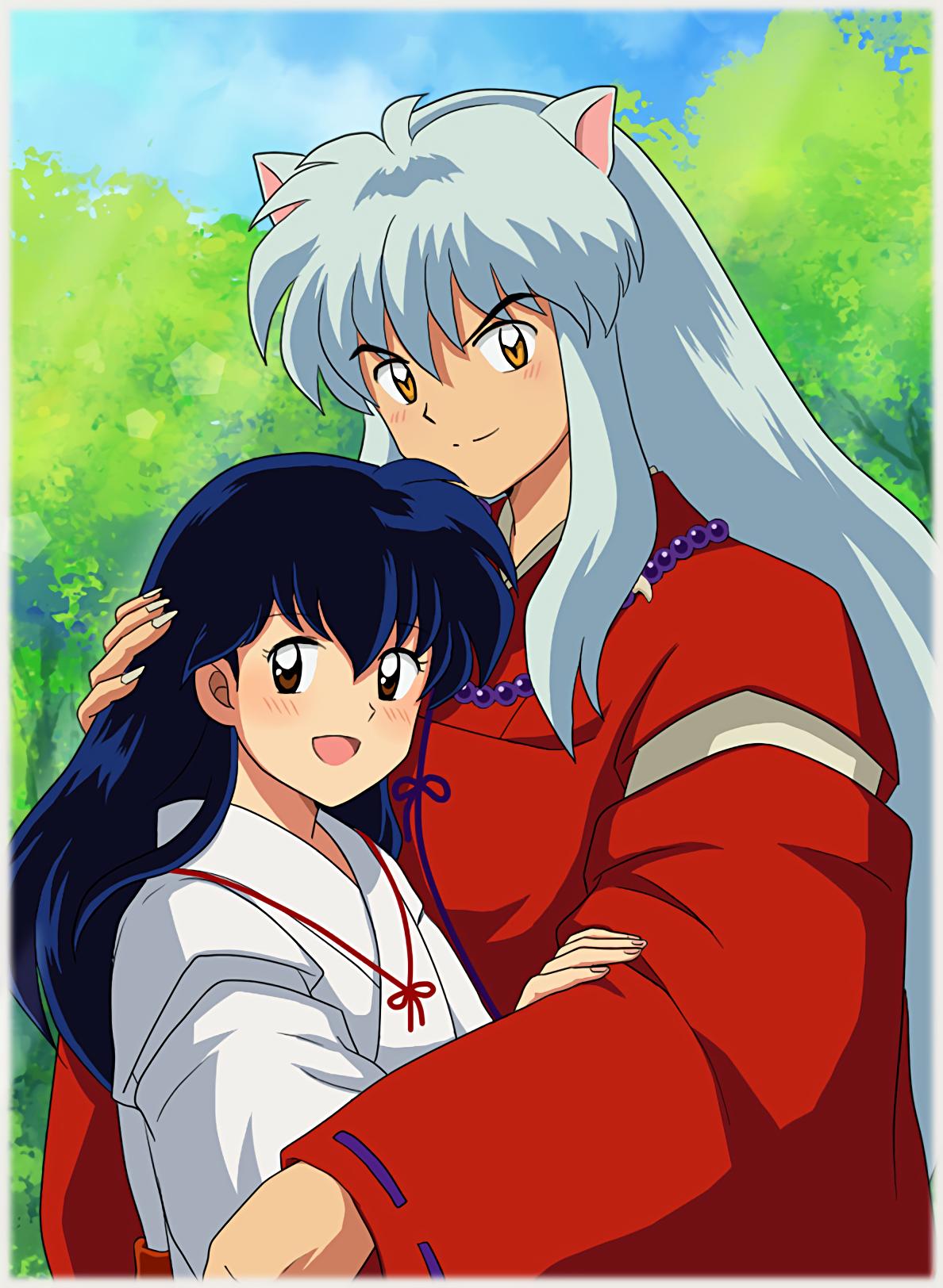 Cute Picture Of Inuyasha And Kagome Inuyasha Kagome Inuyasha