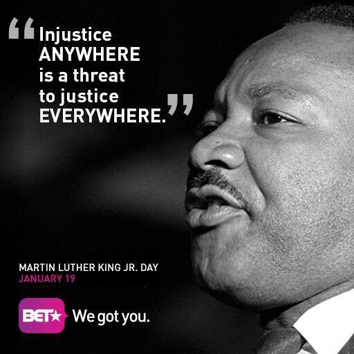 injustice anywhere is a threat to justice everywhere Injustice anywhere is a threat to justice everywhere by philosiblog on 24 may 2013 in courage , inspire , justice , power , setting an example , thinking - martin luther king jr.