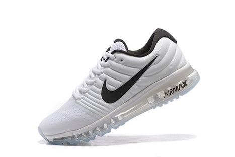 half off 5f436 56fb3 Nike Air Max 2017 Mesh White Black Logo Men Shoes  airmax-101  -  64.95     sports  nike shoes   Scoop.it