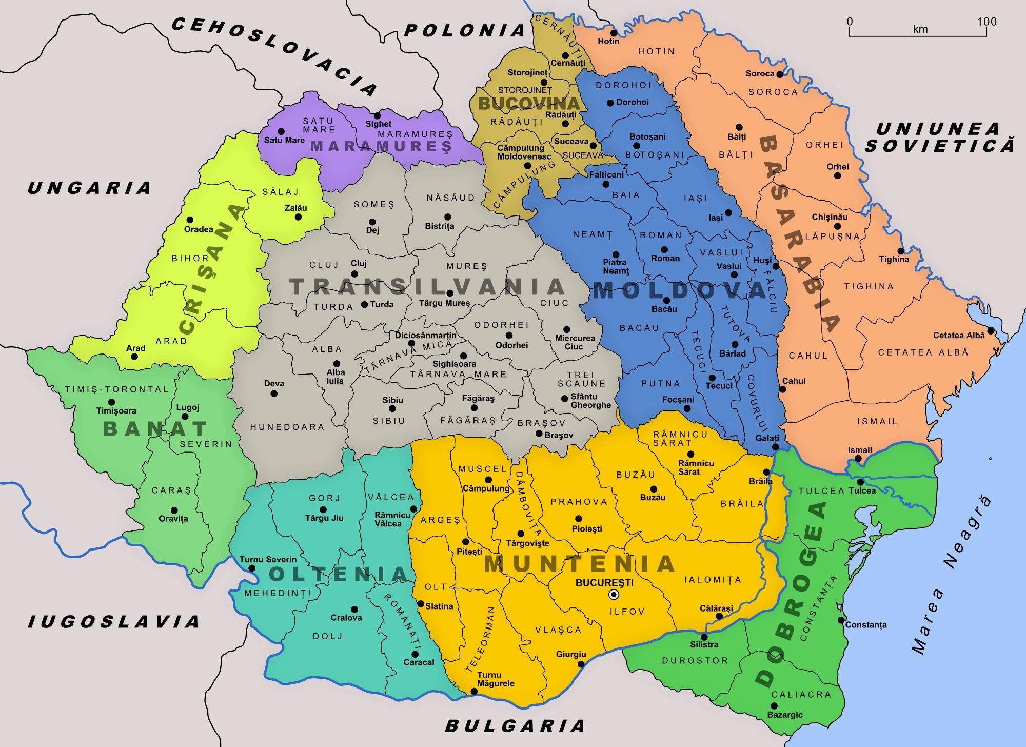 Romania Map Romania Transylvania Romania