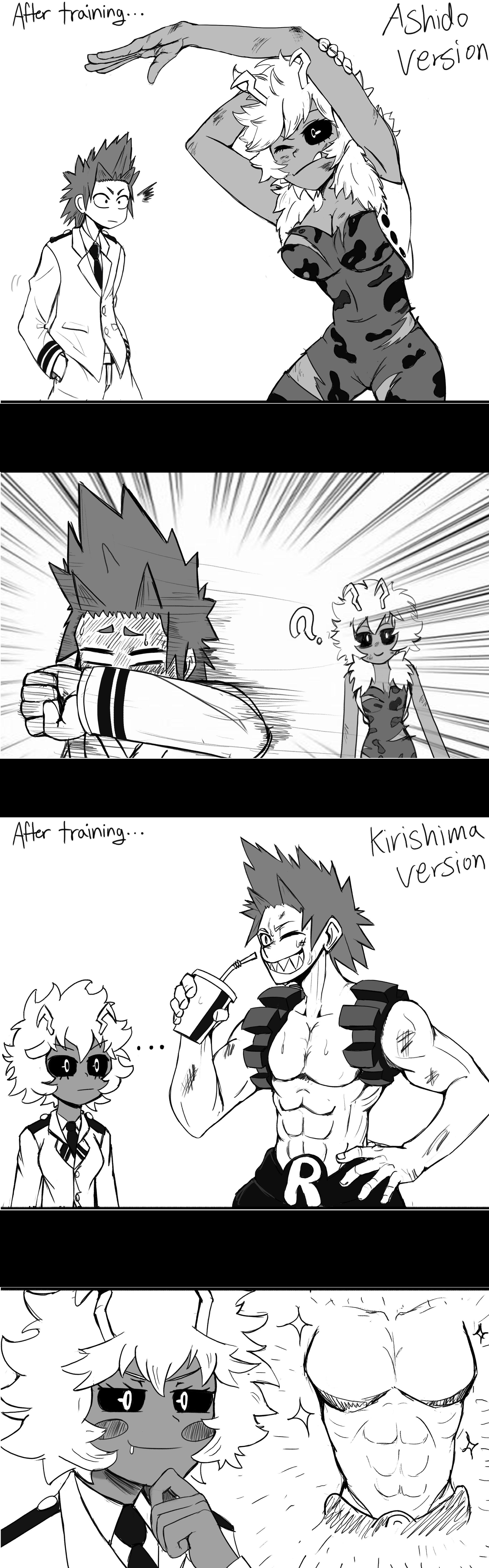 Ashido X Kirishima comic Reaction to their costumes | boku