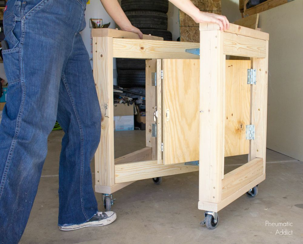 Folding Garage Work Table Nice Space Saving Idea For Sorting