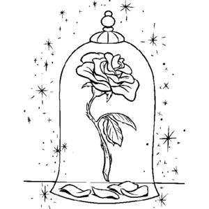 Beauty And The Beast Rose Silhouette Google Search
