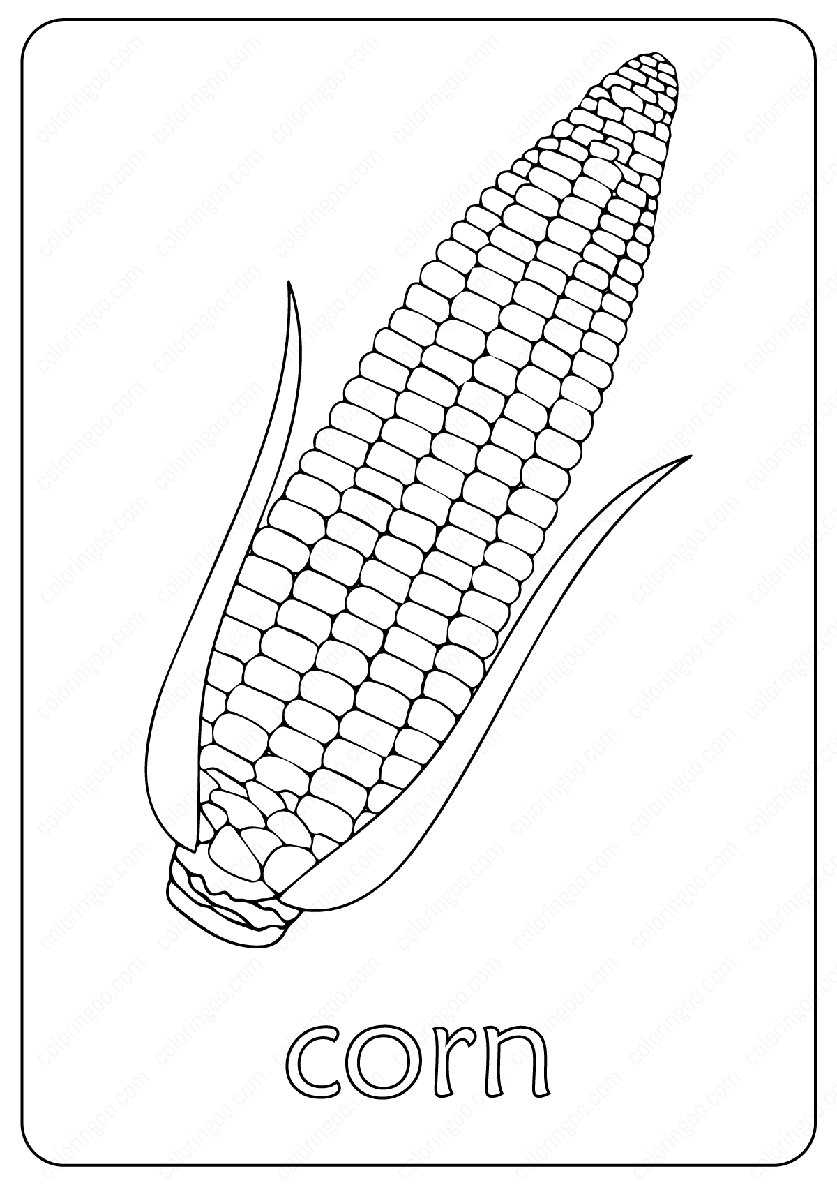 Free Printable Corn Maize Coloring Pages (With images ...