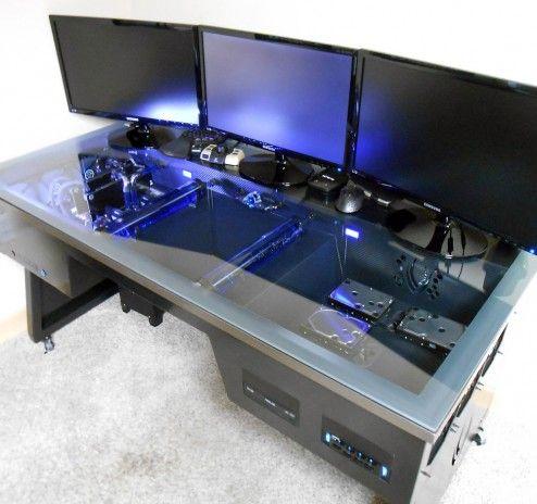 Furniture Comfortable Ergonomic Gaming Desk For Ultimate Gaming Experience Ergonomic Gaming Desk Modern Gaming Syst Computertisch Computerspiele Gamer Zimmer