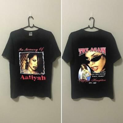 (eBay link) Aaliyah - In Memory of Aaliyah -Try Again Tribute R&b Singer T-Shirt  #clothing #shoes #accessories #mensclothing #fashion #aaliyahfashion