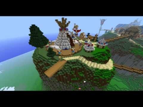 Minecraft Thunder Bluff (80% complete) - Minecraft Build #3 - YouTube