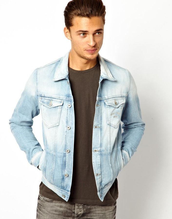 $217, Light Blue Denim Jacket: Pepe Jeans Pepe Denim Jacket Legend Slim Fit  Light