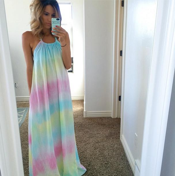 Tie Dye Maxi Dress Summer Maxi Maxi Dresses Pinterest Summer