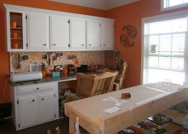 Using discarded kitchen cabinets to create a dream craft ...