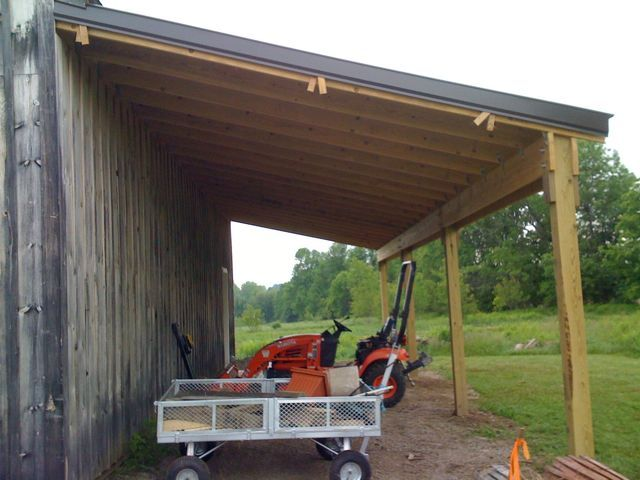 Building a barn leanto part 6 farm blog chicken for Lean to house plans