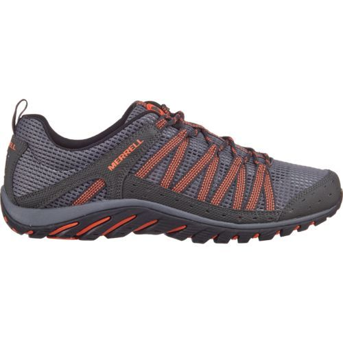 Merrell® Men's Hymist Hiking Shoes (Grey/Orange, Size 8) - Men's Outdoor Shoes at Academy Sports