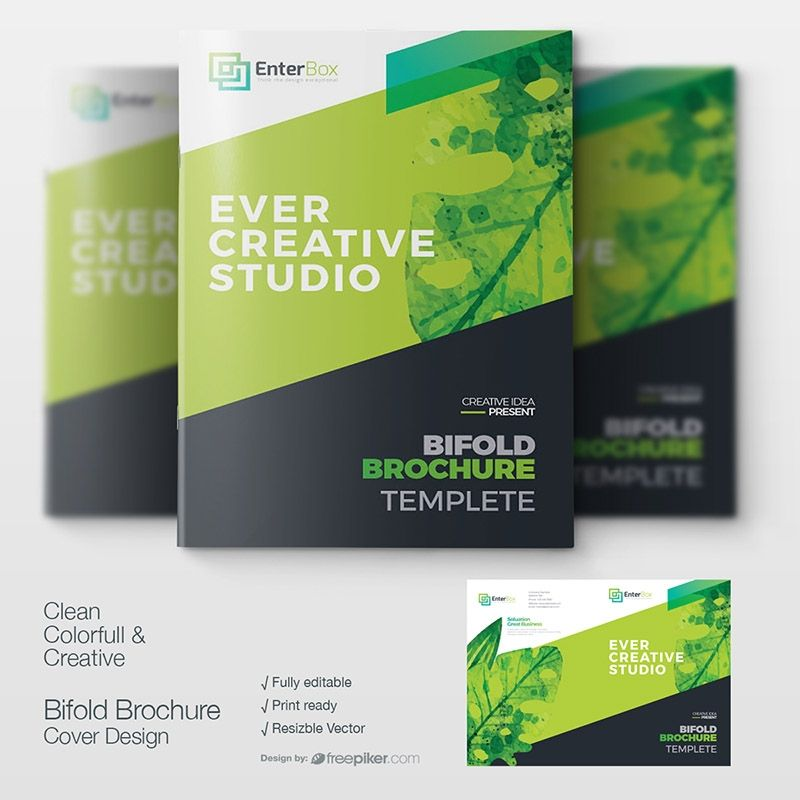 Watercolor Corporate Clean Booklet Cover Design Booklet Cover