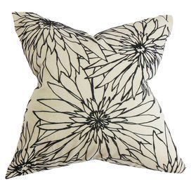 """Bring plush style to your sofa or bed with this cotton pillow, showcasing a floral print and down fill.  Product: PillowConstruction Material: Cotton and 95/5 down fillColor: KohlFeatures:  Insert includedHidden zipper closureMade in Boston Dimensions: 18"""" x 18""""Cleaning and Care: Spot clean"""