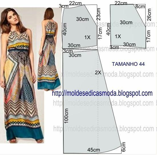 9c1baeaf411c01 Moldes Moda por Medida  VESTIDO FÁCIL DE FAZER - 55 Kleding Naaipatronen