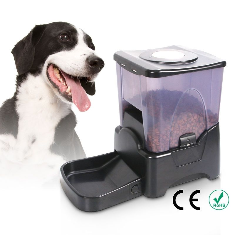 Large Automatic Dry Food Portion Control Dog Cat Pet Feeder Timer