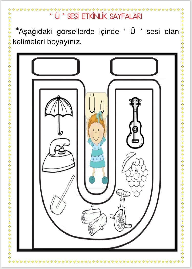 ü Sesi Etkinlikleri 14 Sayfa çiğdem öğretmen 1 Sınıf
