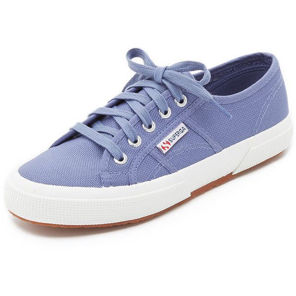 Superga Cotu Classic Sneakers ($65) ❤ liked on Polyvore featuring shoes, sneakers, blue velvet, superga, canvas sneakers, blue shoes, superga shoes and wide shoes