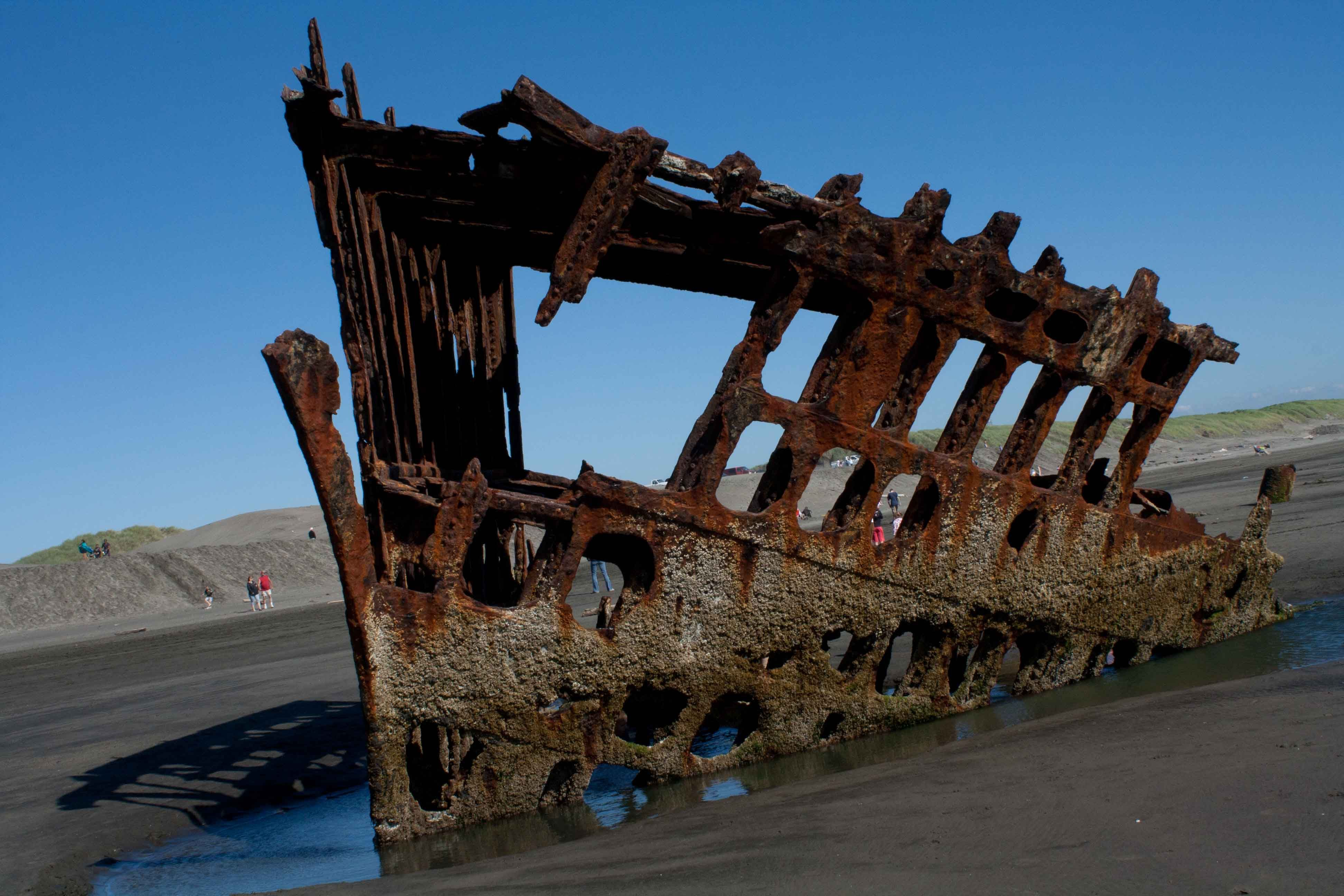 The Peter Iredale. one of the most noted ship wrecks along