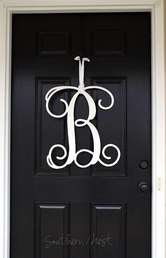 Large 20 Inch Wooden Monogramready To By Charminglittlenest 48 00 Wooden Monogram Monogram Door Hanger Wooden Wooden Initials