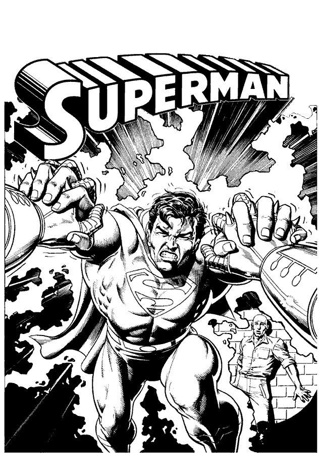 Superman Fargelegging. Tegninger 3