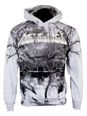 Metallica Official Men/'s Distressed Black College Jacket Master Of Puppets