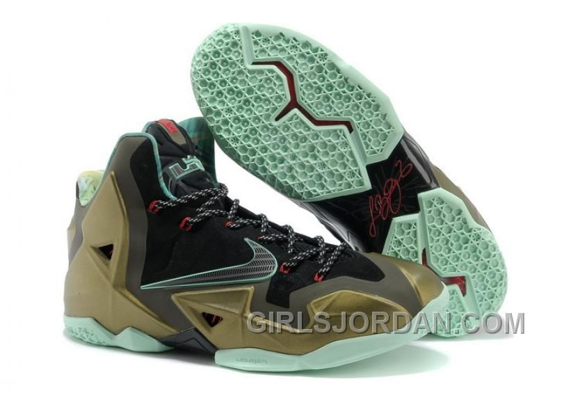 Discover the Top Deals Nike LeBron 11 \u201cKing\u0027s Pride\u201d Parachute Gold/Arctic  Green-Dark Loden-Black-University Red collection at Yeezyboost.