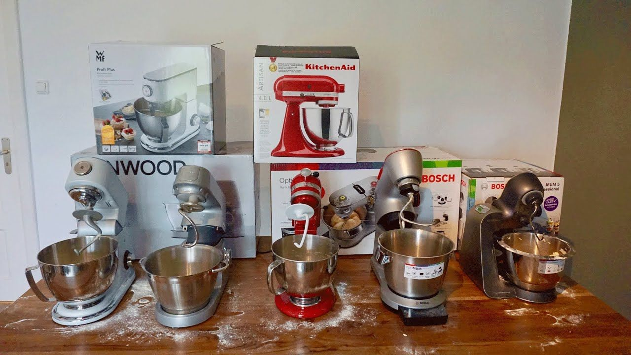 Kuchenmaschinen Test 5 Gerate Im Praxistest Wmf Kenwood Kitchenaid 2x Bosch Youtube Kuchenhilfe Kuchenmaschine Test Kuche